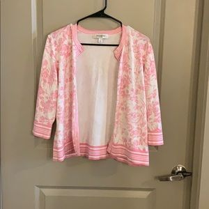 Pink/white floral cardigan. Great condition